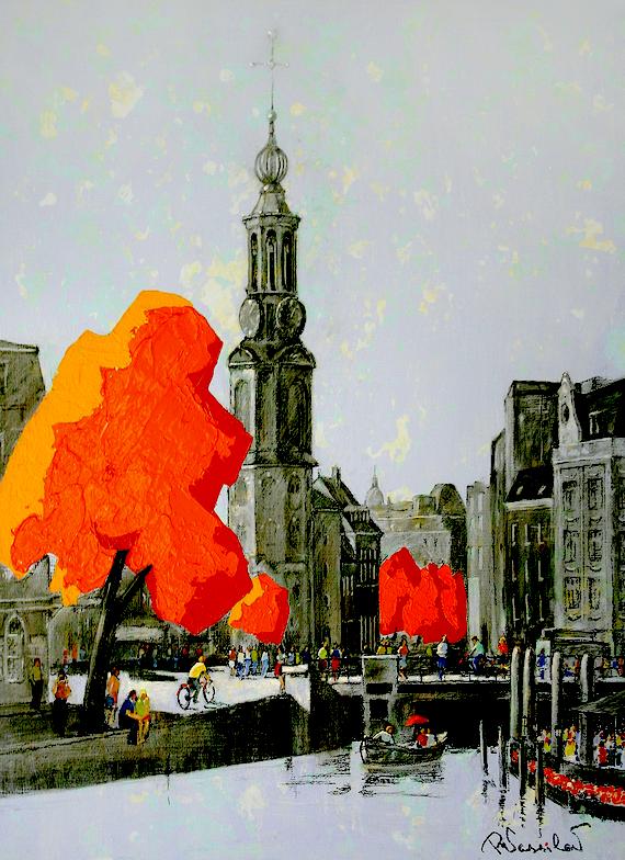 Amsterdam 021 | Munt | 100x80